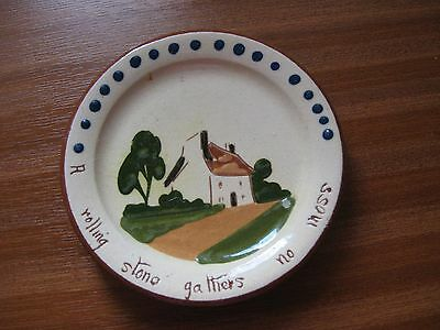 """Torquay Pottery Plate 4 1/2"""" Dia - Perfect Condition"""