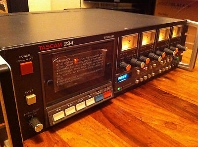 Tascam 234 Professional Cassette Four 4 Track -Fully Working, New Belts &rollers