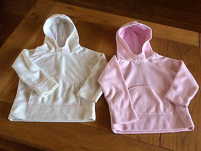 2 GIRLS NEXT  SOFT FLEECE HOODIES 1 PINK 1 CREAM size 4 YEARS