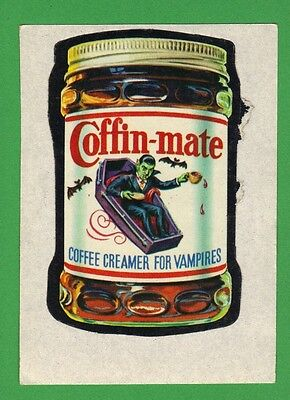 1974 Wacky Packages Series 10 #7 Coffin-Mate *453