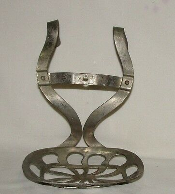 Antique Nickell Platted Brass Hanging Claw Foot Bathtub Soap Dish