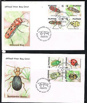 philippines 2000 insects on 2 FDC
