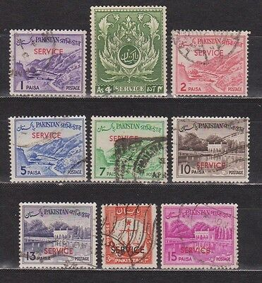 Pakistan - Service - 9 Different Stamps