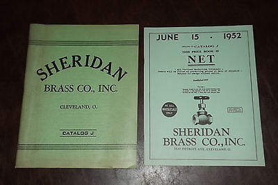 1952 SHERIDAN BRASS CO. Catalog J Cleveland, Ohio PLUMBING