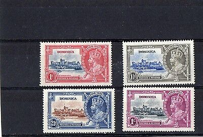 Dominica 1935 Silver Jubilee Stamp Set Mint Hinged