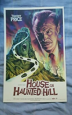 Vincent Price 3 posters Mondo House on the Haunted Hill signed