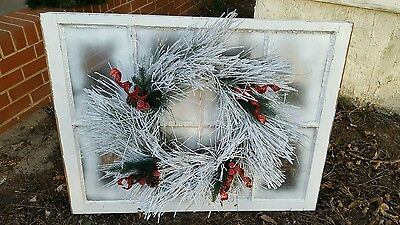 Vintage Sash Antique Wood Window Frame Pinterest Wedding Christmas With Wreath!