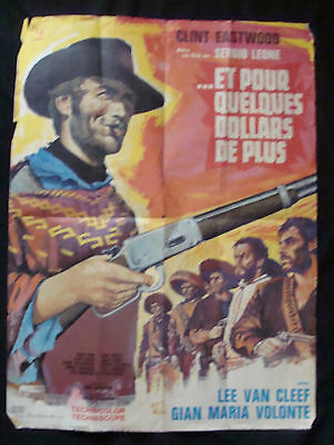 FOR A FEW DOLLARS MORE movie poster CLINT EASTWOOD original French poster SERGIO