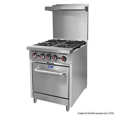 NEW Commercial 4 Burner Gas Stove with Oven