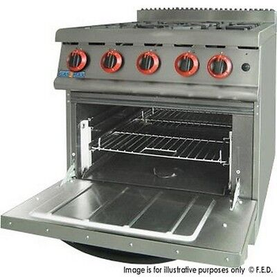 Brand NEW Commercial Gas 4 Burner Stove with Oven JZH-RP-4(R)