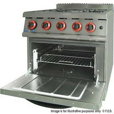 NEW Commercial Gas 4 Burner Stove with Oven