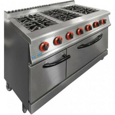 NEW Commercial Gas 6 Burner Stove with Oven