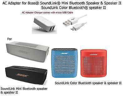 USB Power Adapter Charger for BOSE SoundLink Mini Wireless Bluetooth Speaker 2