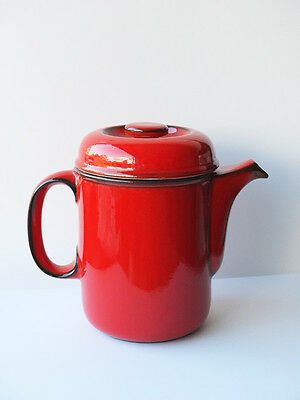 Red Flammfest Coffee Pot : Thomas Germany Vintage 1970 approx 2 pints 1.1 litres