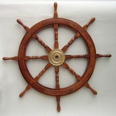 "36"" Ship Wheel Wooden  ~ Wooden Ship Wheel ~ Pirate Decor ~ Nautical"