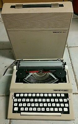 Vintage Pacific 30 typewriter in carry case  decor furniture