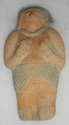 Jama - Coaque Pre Columbian Terracotta Effigy Equador 200 - 600 A.d. Authentic