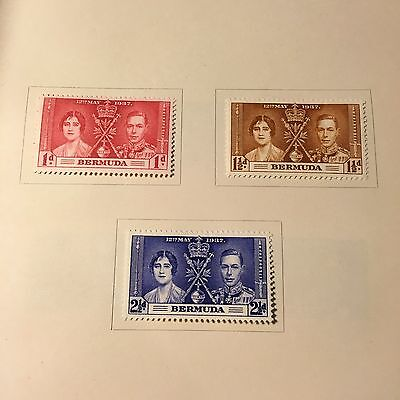 Bermuda 1937 KGVI Coronation set  MM