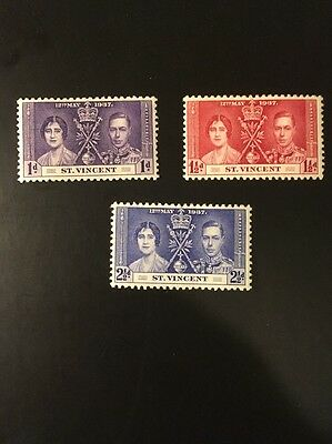 St Vincent 1937 KGVI Coronation set  MH