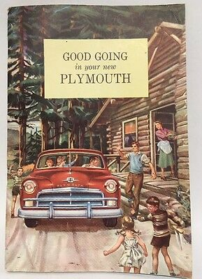 """1950 Plymouth Owners Manual """"Good Going in Your New Plymouth"""""""