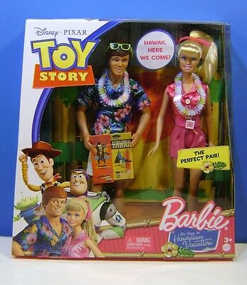 2010 Mattel Barbie Doll Toy Story Barbie & Ken Hawaiian Vacation Brand New