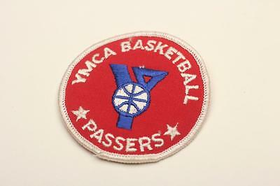 """YMCA BASKETBALL PASSERS Vintage Sew-On Patch 3"""""""