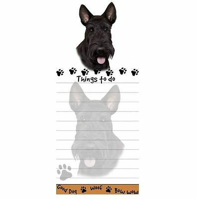 SCOTTISH TERRIER DOG DIECUT LIST PAD NOTES NOTEPAD Magnetic Magnet SCOTTIE