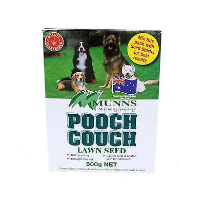 Lawn Seed Pooch Couch Grass Munns 500g Covers 50sqm