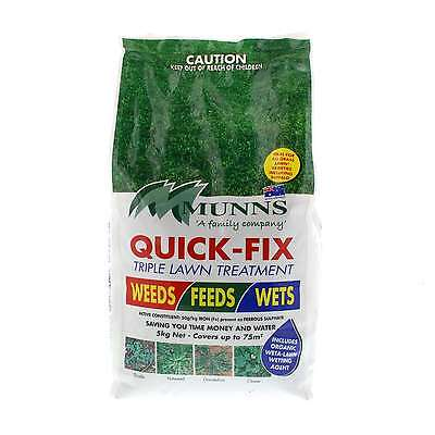Lawn Seed Quick Fix Triple Treatment Lawn Grass Seed Munns 5kg Covers upto 75sqm