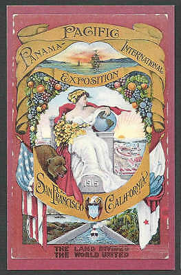 1982* Ppc San Francisco Ppie Reprint Of 1915 Poster Mint