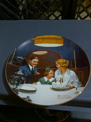 norman rockwell plate the birthday wish