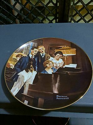norman rockwell plate close harmony