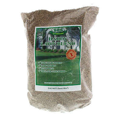 Hardy Lawn Grass Seed Fast Establishment SPS 2kg Hard Wearing Economical Sowing