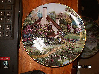 """Franklin Mint Heirloom """"A COZY GLEN"""" Limited Edition Porcelain Plate  LOOK!"""
