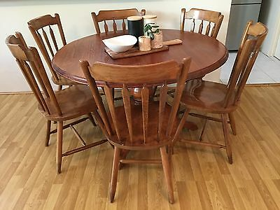 Dining Chairs Pine x6 Country Style Timber