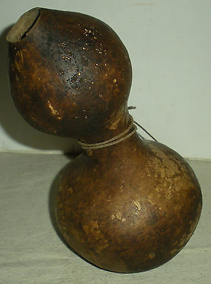 ANTIQUE c1760 – 1820 EASTERN WOODLAND GOURD CANTEEN GREAT PATINA vafo