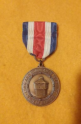 Vintage National Guard Service Medal State of Illinois