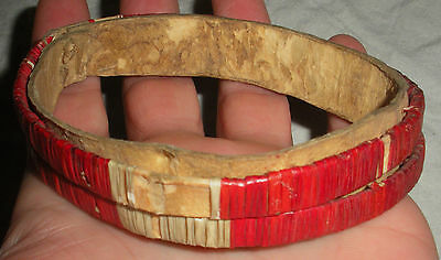 ANTIQUE c. 1850 PLAINS NATIVE AMERICAN INDIAN QUILL ARM BAND RARE! vafo