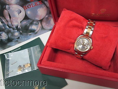 Rolex Oyster Datejust Two Tone Roman Dial Watch + Box/papers F331177 2005