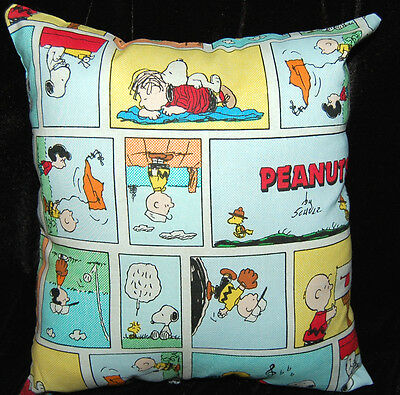 New Handmade Peanuts Snoopy Charlie Brown Comic Strip Toddler/travel/ Car Pillow