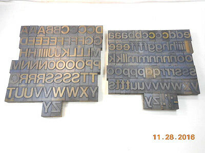 Printing Letterpress Printers Block, Alphabet 11 Line Upper And Lower Case Set