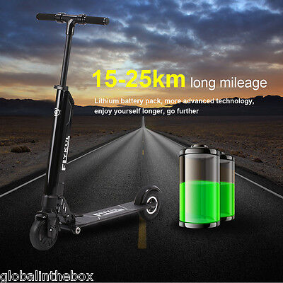 "Electric Kick Scooter 5.5"" 30KM/H Foldable Lightest USB Charging Double Brake UK"