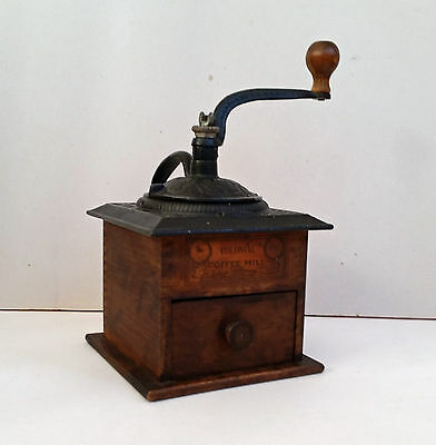 Wrightsville Hardware Colonial No.1707 Coffee Mill Grinder wood cast iron
