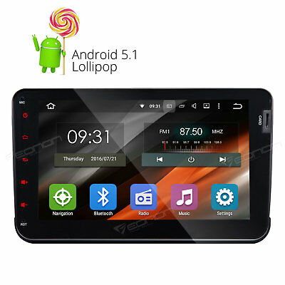 Android Car Stereo 2din Radio Audio GPS Bluetooth 3g HD DAB+ for VW SEAT SKODA r