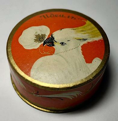 Vintage 1920's Face Powder w Cockatoo graphics Russian