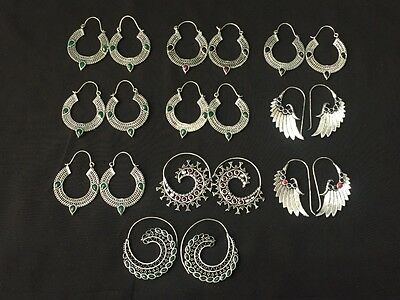 WHOLESALE LOT 10 pcs RUBY & MULTI STONE.925 SILVER PLATED BEAUTIFUL EARRING