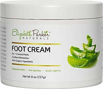 Organic Foot Cream for Dry Cracked Heels and Feet - Anti Fungal for Athletes ...