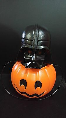 70's Pumpkin Head Darth Vader Star Wars Plastic Moulded Candy Container Rare Tg