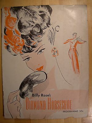 Billy Rose's Diamond Horseshoe Program Programme 1948 Sexy 20 pages
