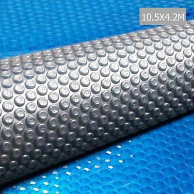 NEW 10.5x4.2m Isothermal Solar Swimming Pool Cover Bubble Blanket, 400 Micron